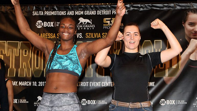 Shields-Szabados, Nieves-Potapov weigh-in results