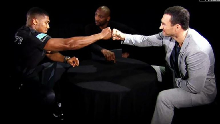 Did Klitschko gain an edge over Joshua on 'The Gloves Are Off' show?