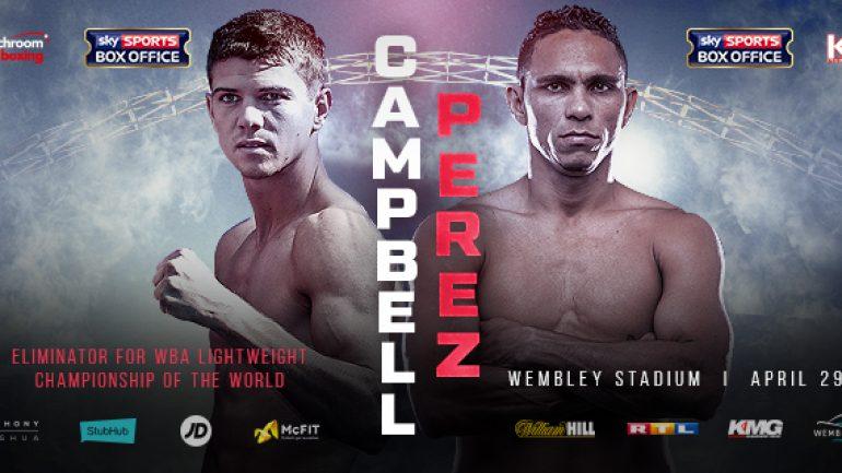 Luke Campbell-Darleys Perez set for April 29