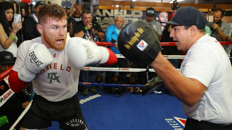 Canelo trains for Chavez Jr.
