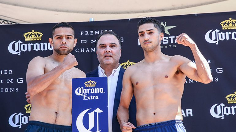 Josesito Lopez-Saul Corral weigh-in results