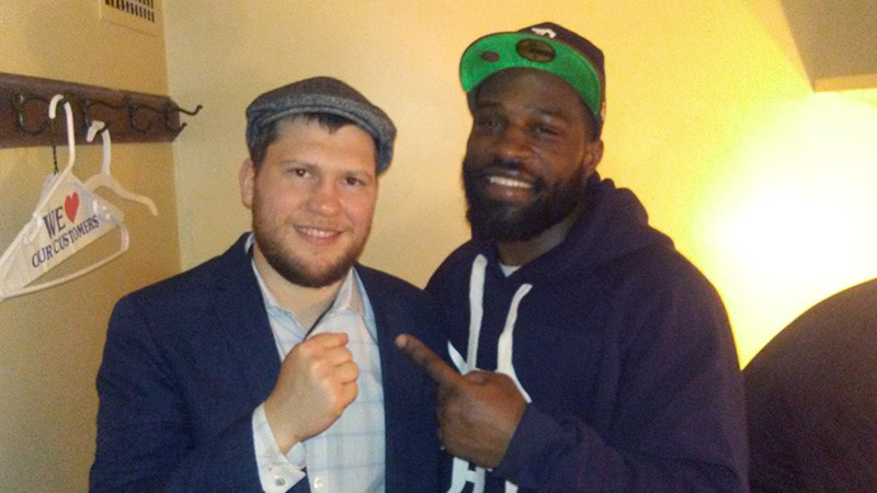 "Demetrius Banks (right) with ""Detroit Brawl"" promoter Dmitriy Salita. (Photo: Facebook)"