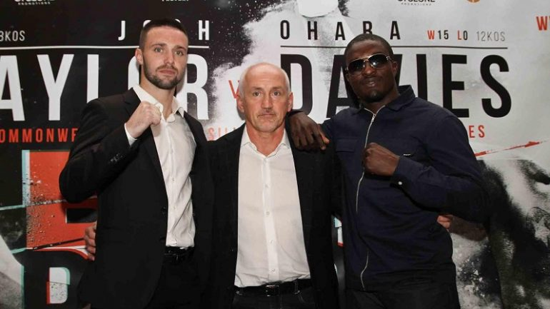 Josh Taylor: Ohara Davies is 'gonna get a pasting'