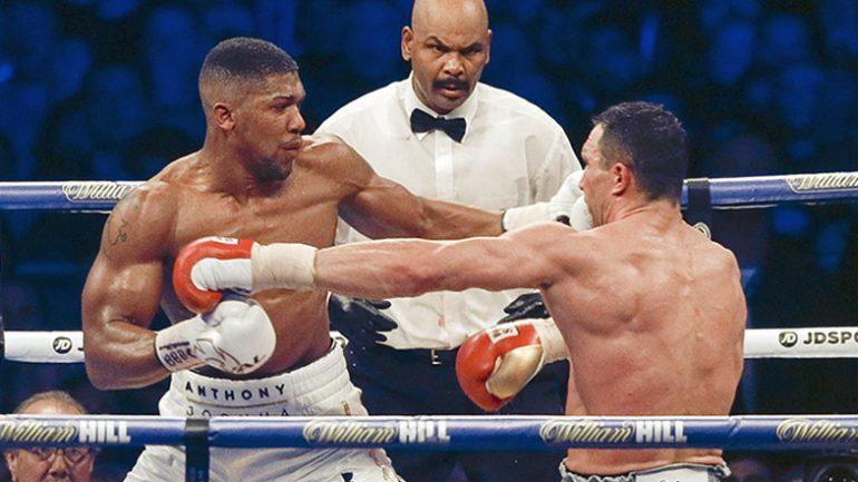 Anthony Joshua-Wladimir Klitschko rematch could land in Las Vegas