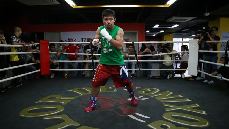 Manny Pacquiao looks sharp in recent sparring sessions