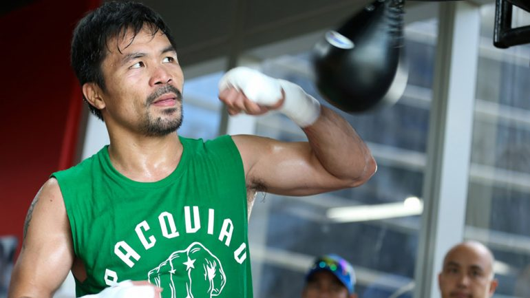Official: Manny Pacquiao won't fight Mike Alvarado on April 14 in support of Horn-Crawford