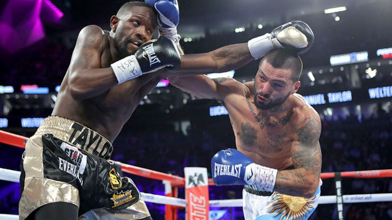 Lucas Matthysse stops Emanuel Taylor in five rounds
