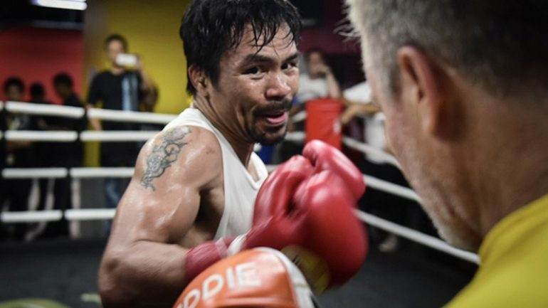 Pacquiao's camp not concerned by shaky start of training