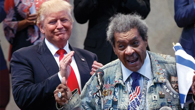 Only in America President Trump's style is recognizable to those familiar with Don King