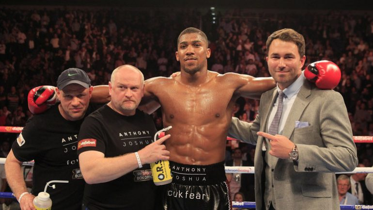 Eddie Hearn says the only fight Anthony Joshua wants is the Andy Ruiz Jr. rematch
