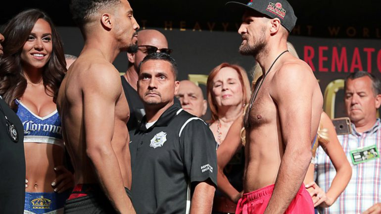 Andre Ward, Sergey Kovalev finally face-to-face at weigh-in