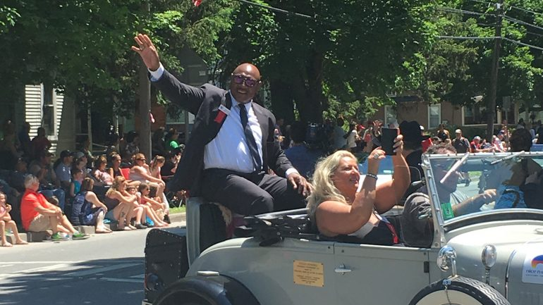 Hall of Fame Induction Day parade images