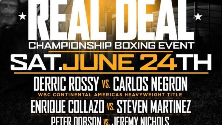 Derric Rossy to headline Evander Holyfield's inaugural promotion