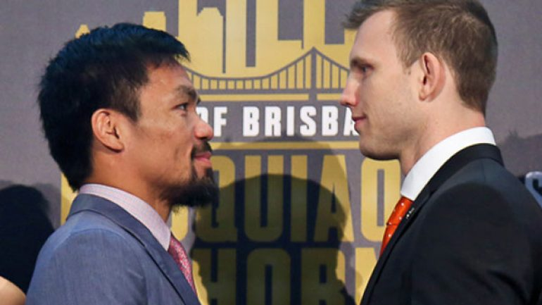 Roach expects Manny Pacquiao-Jeff Horn to be 'short and sweet'