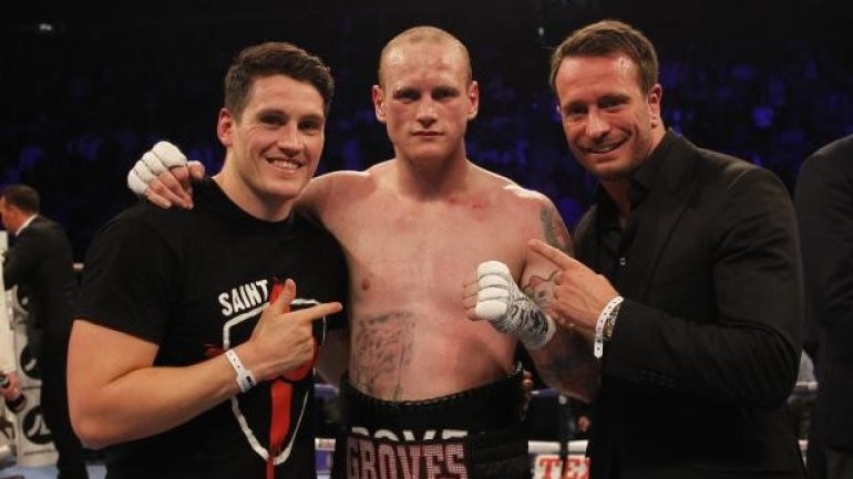 George Groves suffered broken jaw in Chudinov title win