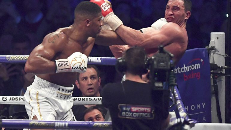 Anthony Joshua-Wladimir Klitschko II probably will be on PPV