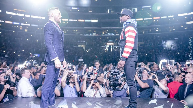 Mayweather-McGregor kickoff press conference, Los Angeles