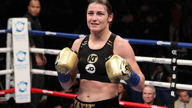 Katie Taylor dominates Cindy Serrano to retain titles