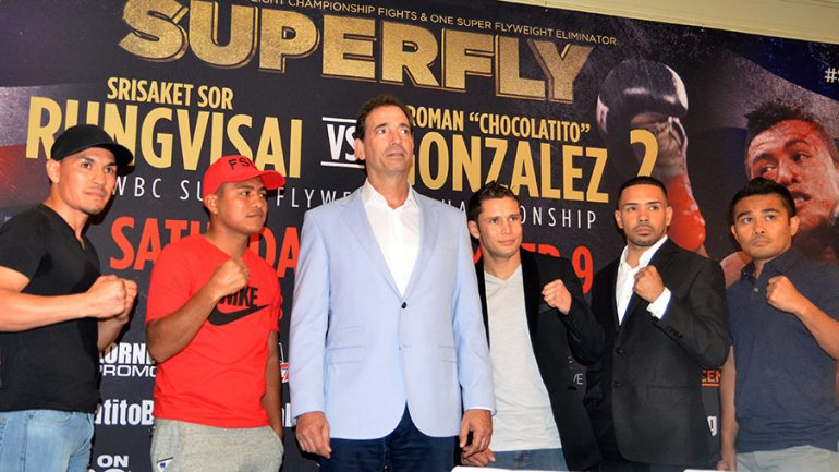 Fighters gather in Los Angeles to announce 'Super Fly' card
