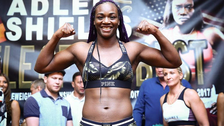 Claressa Shields demolishes Adler, wins titles in fourth pro bout