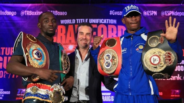 Terence Crawford's trainer says Indongo will be knocked out