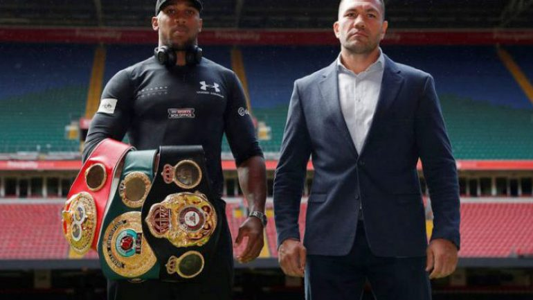 Anthony Joshua and Kubrat Pulev meet in Cardiff, 80,000 expected for October fight