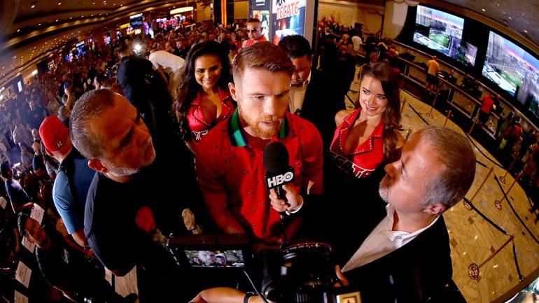 Canelo Alvarez-Gennady Golovkin Las Vegas arrivals