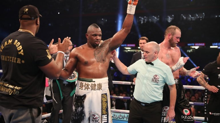 Eddie Hearn confirms offer for Deontay Wilder to face Dillian Whyte