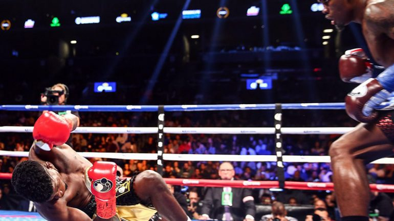 Jermell Charlo and Jarrett Hurd score impressive stoppages in 154-pound title defenses