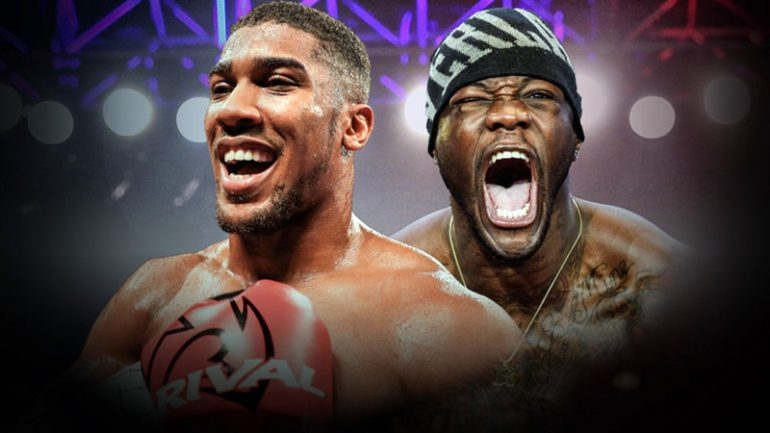 Deontay Wilder: Anthony Joshua won't fight me soon, wants to keep gravy train going