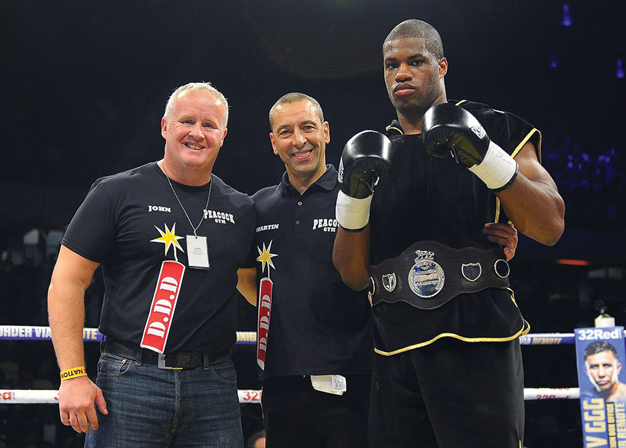 Daniel Dubois defeats AJ Carter during a Boxing Show at the Copper Box Arena on 16th September 2017 Frank Warren Show, Boxing, Copper Box Arena, London, United Kingdom - 16 Sep 2017 (Rex Features via AP Images)