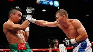 Chris John (right) vs. Rocky Juarez. Pphoto credit: Ethan Mille
