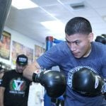 OrtizWorkout Hoganphotos 150x150 - Vergil Ortiz wants to be be first to stop Mauricio Herrera on Alvarez-Jacobs card