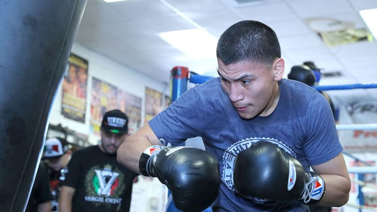 Vergil Ortiz's pro education continues with Lucas Mattysse's tough gym lessons