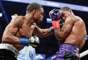 AP 18021176889653spencepeterson 300x203 - Dougie's Friday mailbag (Errol Spence vs. Mikey Garcia, Ring titles)