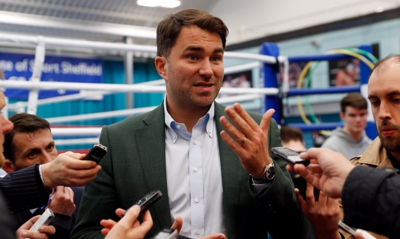 Matchroom Boxing Group Managing Director Eddie Hearn. Photo credit: Reuters