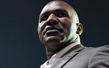 Evander Holyfield promotes the same way he fought: all in
