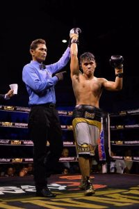 Mike Plania Photo credit Sanman Promotions Team Plania 02 200x300 - Thousands of miles from home, Mike Plania gets the call to fight