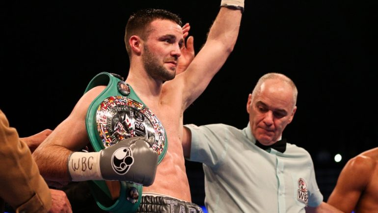 Josh Taylor stops late replacement Winston Campos in three
