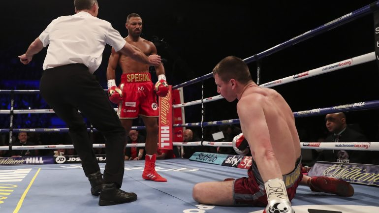 Kell Brook knocks out Sergey Rabchenko in two rounds