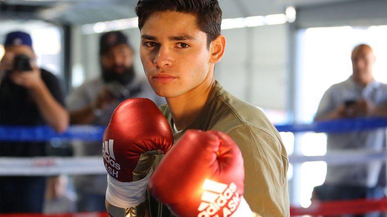 Photos: Ryan Garcia workout for Velez fight