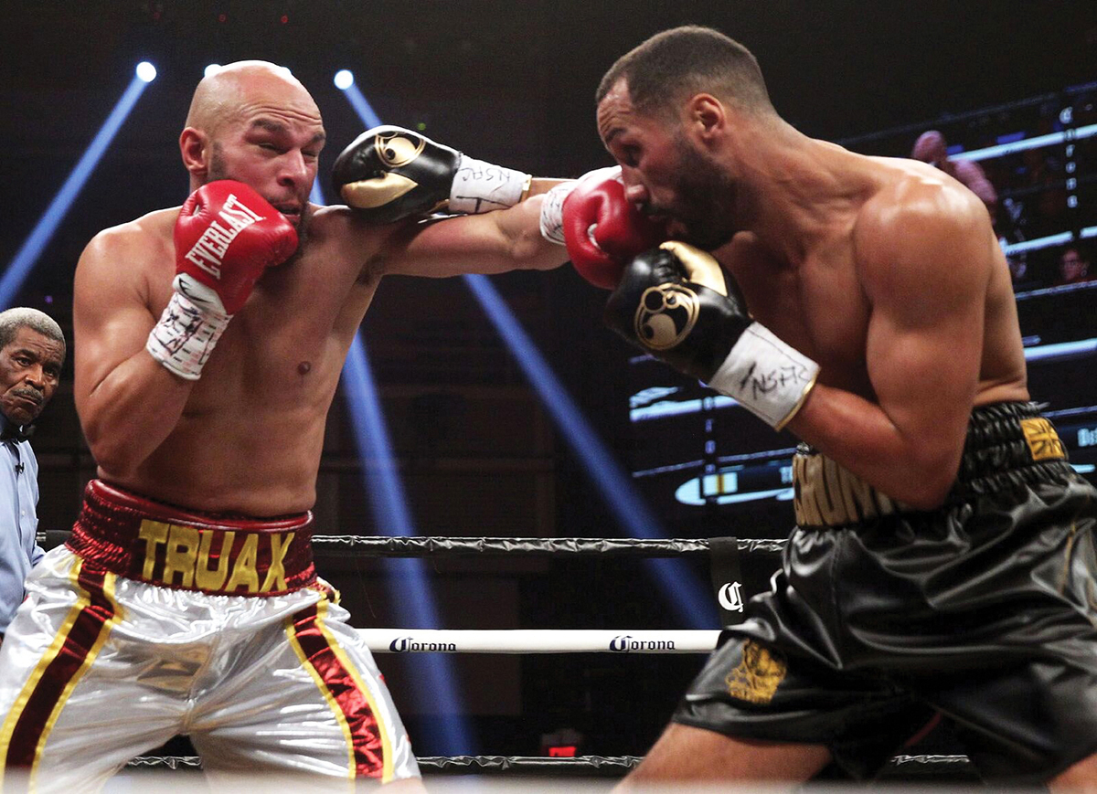 Caleb Truax (left) vs. James DeGale