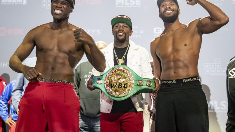 Weights: Adonis Stevenson, Badou Jack square off before light heavyweight title fight