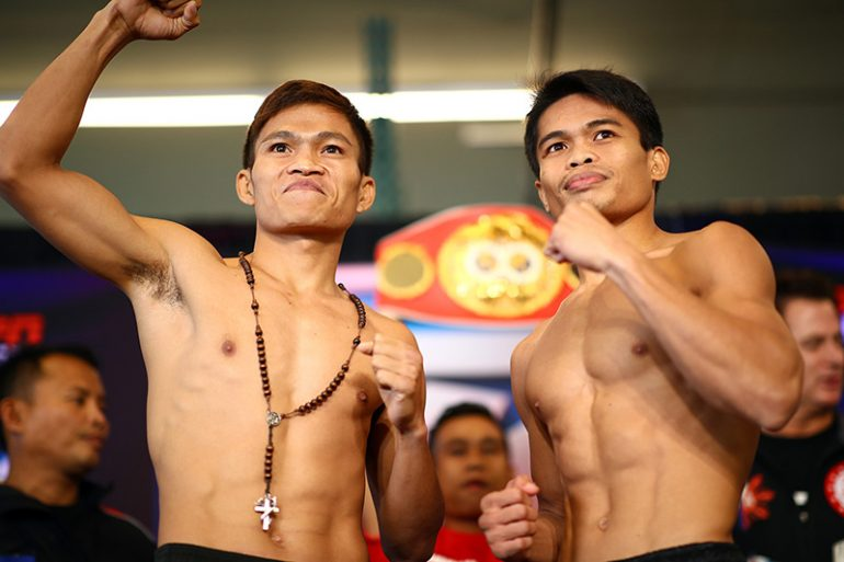 Jerwin Ancajas Jonas Sultan Make Weight For All Filipino  Pound Title Fight