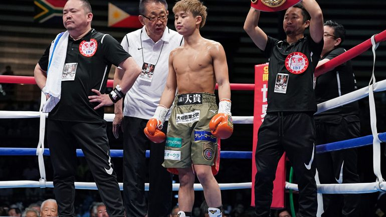 Hiroto Kyoguchi 'honored' to have received The Ring 108-pound championship belt