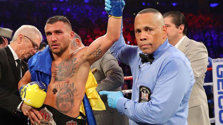 Vasiliy Lomachenko, Jose Pedraza set for lightweight championship fight Dec. 8 in New York