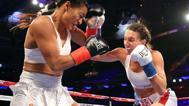 Mikaela Mayer shuts out Baby Nansen on Lomachenko-Linares undercard