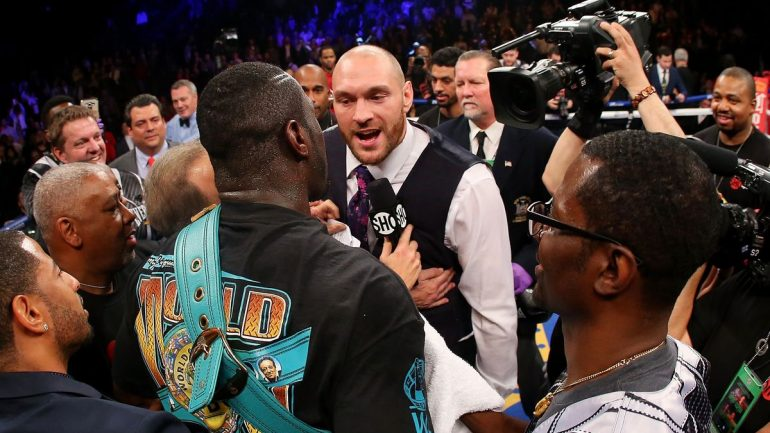 Deontay Wilder, Tyson Fury agree to terms for heavyweight title fight later this year in U.S.