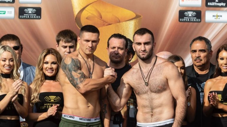 Weigh-in alert: Oleksandr Usyk and Murat Gassiev are both 199.2