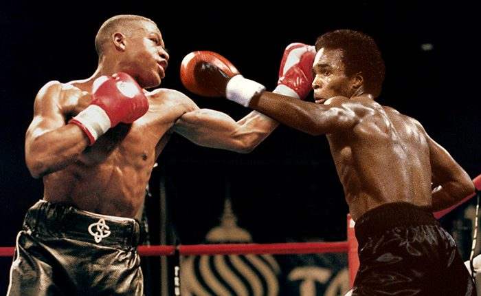 Sugar Ray vs. Money May Grab a ringside seat at one of the most tantalizing mythical matchups of all time By Tom Gray